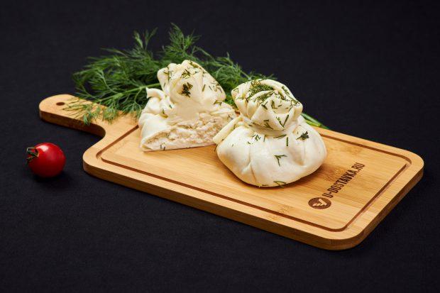 """Сыр """"Хинкали"""" из сулугуни с творогом и зеленью"""