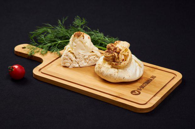 """Сыр """"Хинкали"""" из сулугуни с творогом и паприкой"""