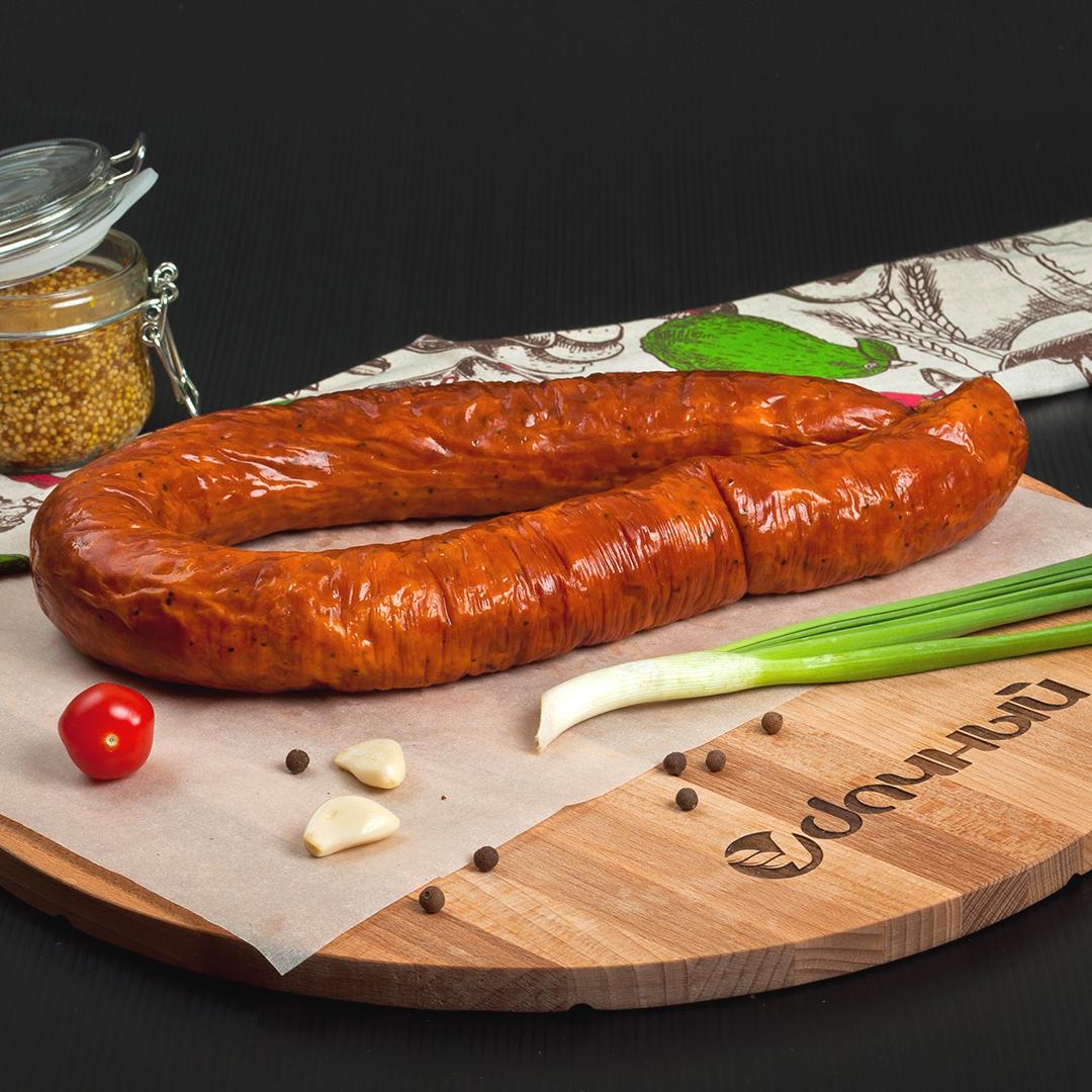 Колбаса печёная на дровах