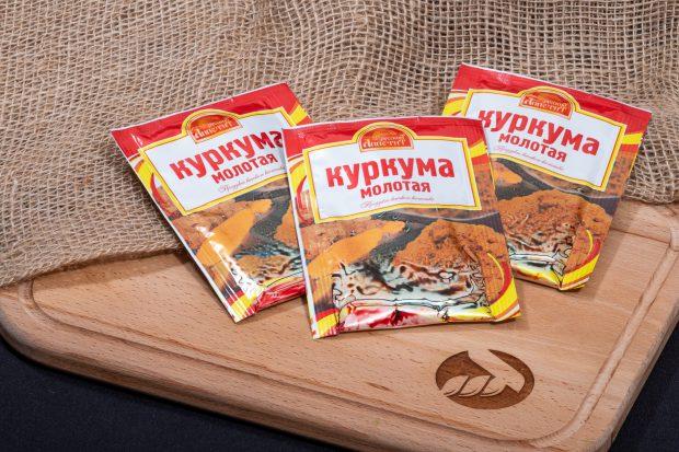 Пряность куркума молотая, 10 г, Русский аппетит