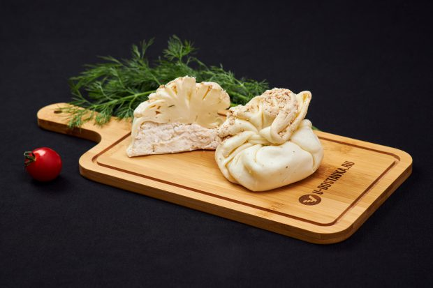 "Сыр ""Хинкали"" из сулугуни с творогом и грецким орехом"